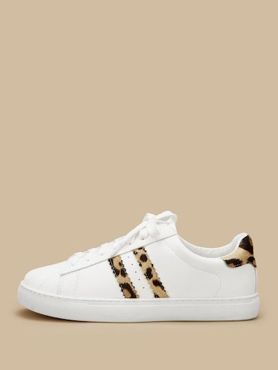new arrival a27d9 0e384 Shop Leopard Print Lace-up Sneakers online. SheIn offers Leopard Print  Lace-up Sneakers   more to fit your fashionable needs.