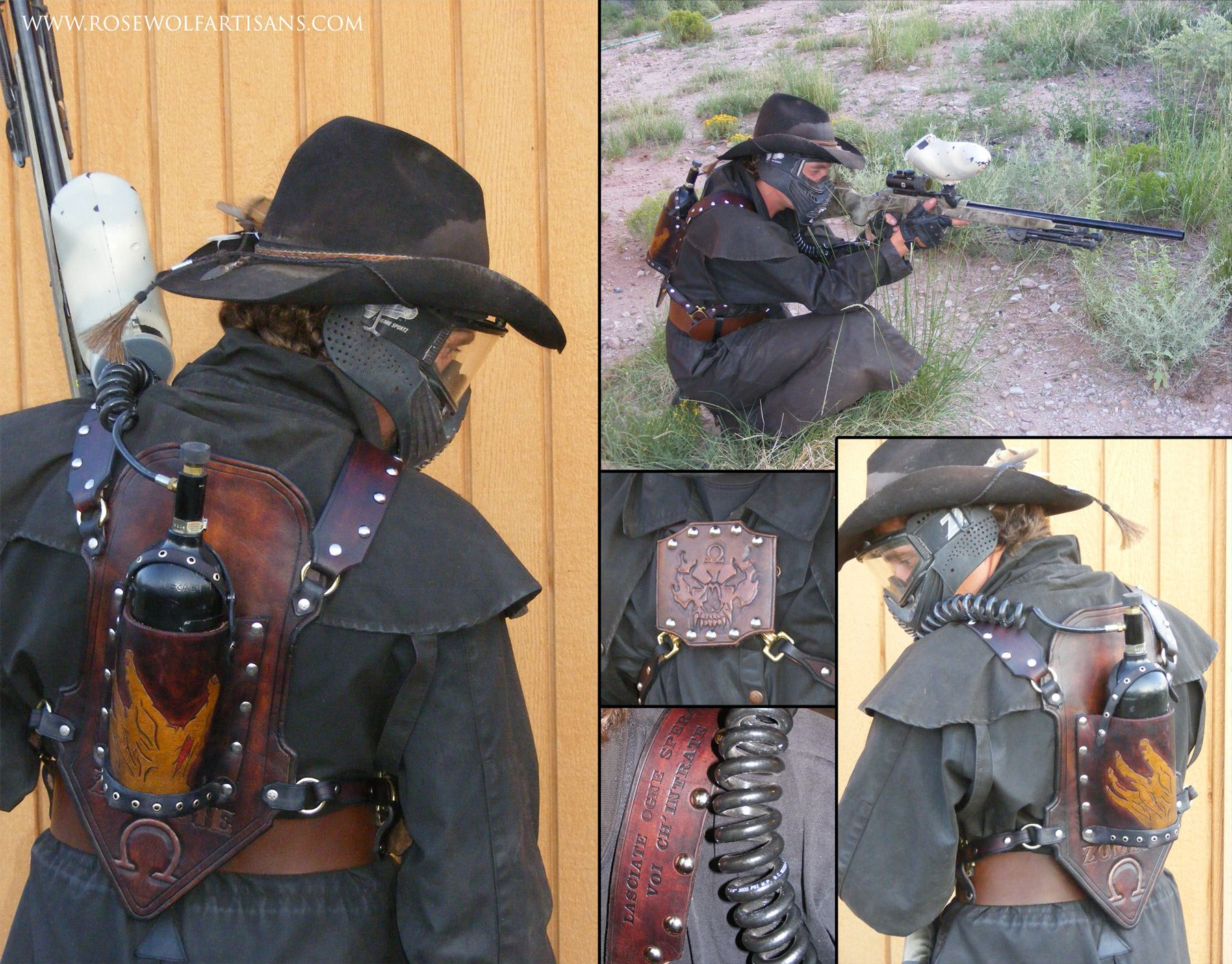 Post Apocalypse Wasteland gas mask and goggles for LARP and ...