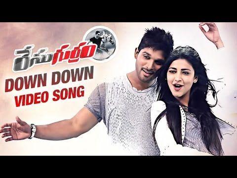 Race Gurram Video Songs Down Down Song Allu Arjun Shruti Haasan Down Song Songs Race Gurram