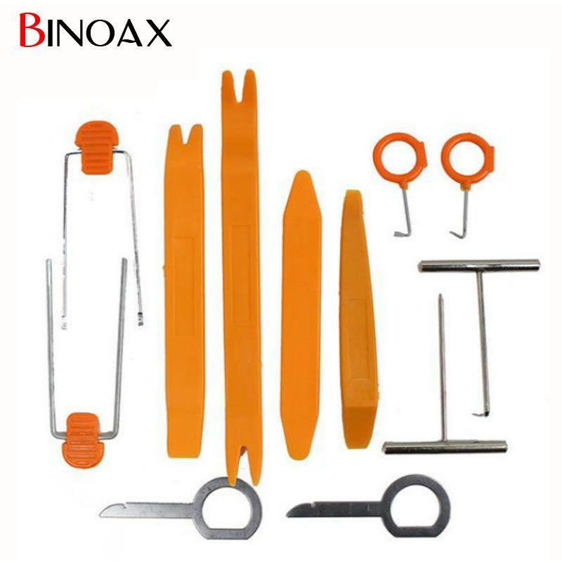 Binoax 12 Unids/set Plástico Car Radio Puerta Clip Panel de Moldura Dash Extracción de Audio Herramienta de la Palanca de Reparación # P00018 #