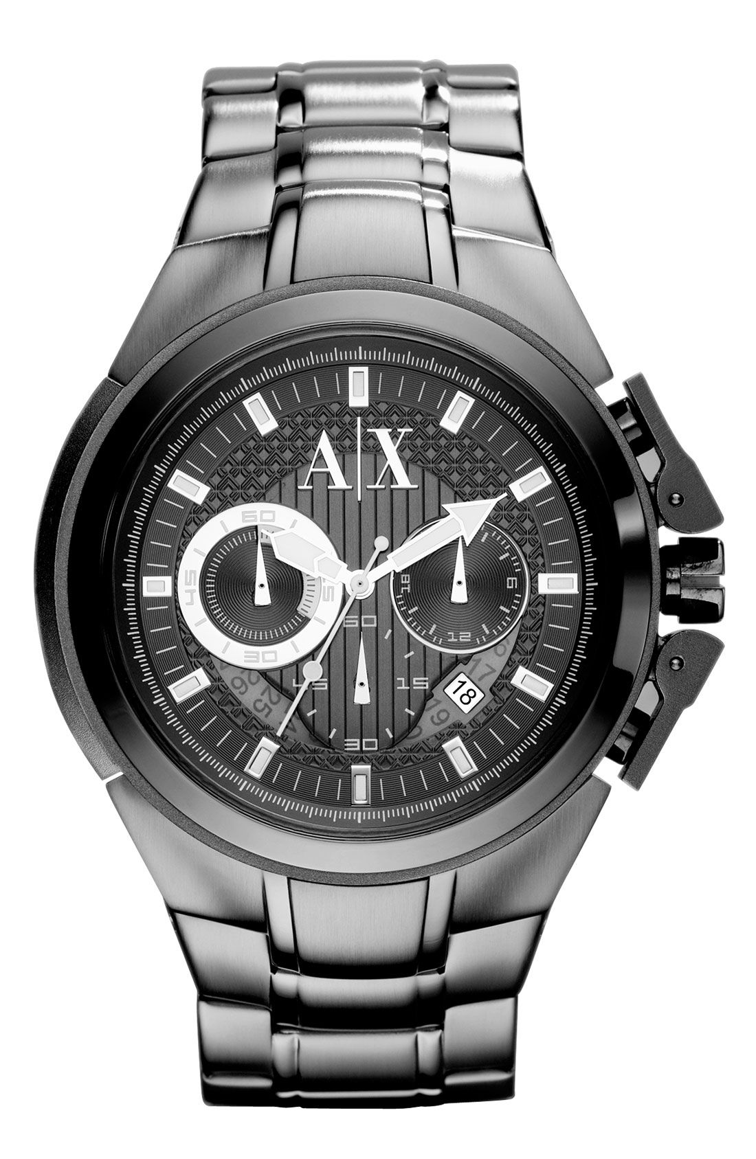 328b8e6612a7f ax-armani-exchange-gunmetal-mens-chronograph-bracelet-watch-product ...