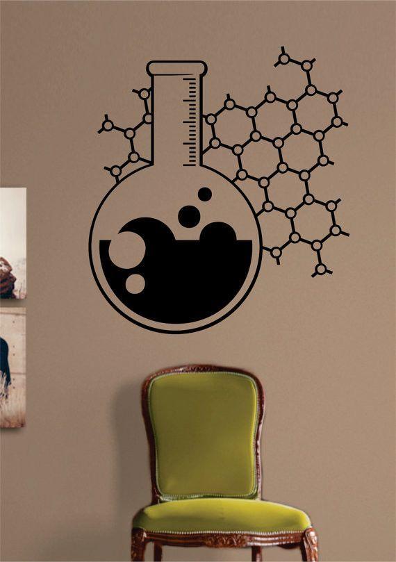 Chemistry Beaker Science Design Decal Sticker Wall Vinyl Art Home
