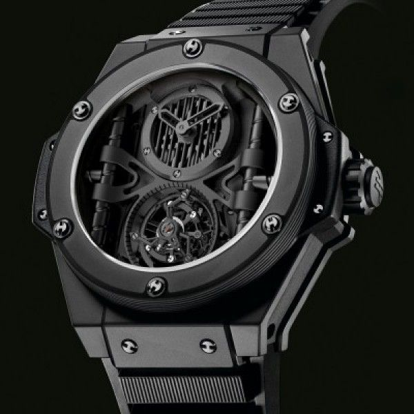 047e0417c6d Relógio Réplica Hublot King Power All Black Ediiton Limited ...