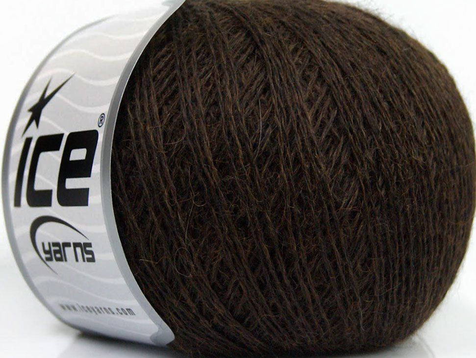 This is an excellent yarn with high-content of Alpaca Mohair and Merino Wool. Works excellent for your fine-weight patterns with more than 30 plain and melange colors. Fiber Content 40% Merino Wool 30% Acrylic 20% Alpaca 10% Mohair Brand Ice Yarns Brown fnt2-46925