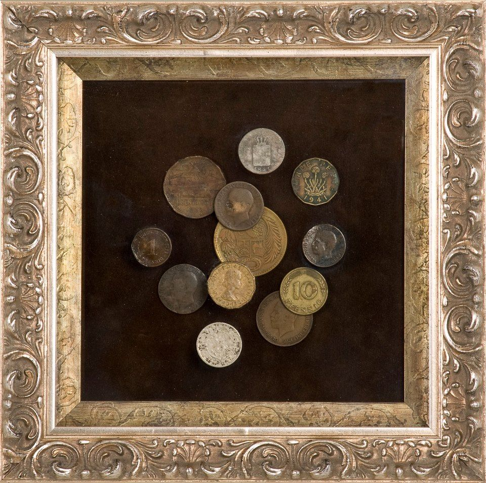 Here is great framing idea for your foreign coins.