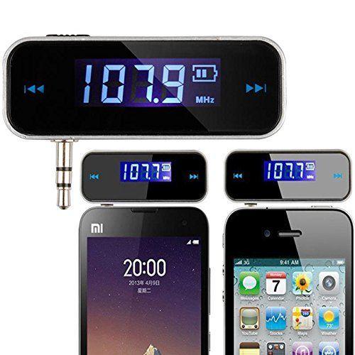 Wireless 3.5mm InCar Audio Radio Adapter FM Transmitter w
