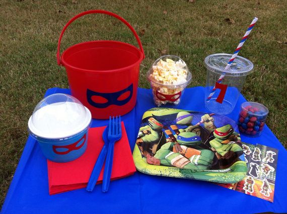 Personalized Teenage Mutant Ninja Turtles Party In a Box ~ Deluxe Set