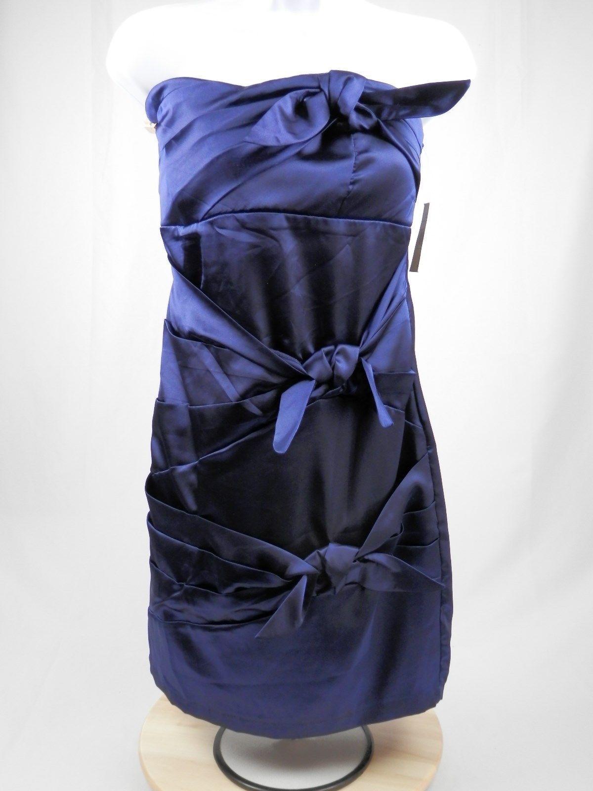 Nice awesome ruby rox mini dress juniors blue strapless semi