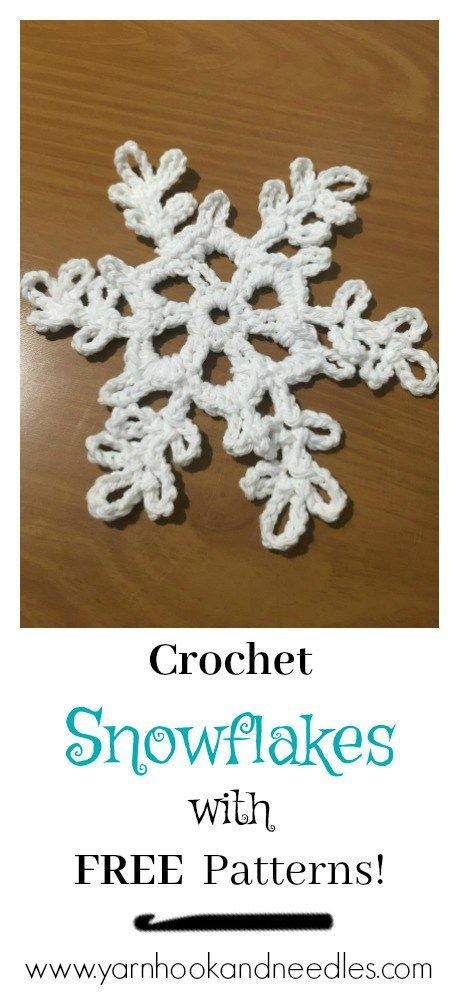Crochet Snowflakes with 2 FREE Pattern Styles and Sizes ...