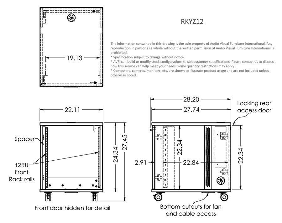 12u Mobile Rack Rkyz12 Recording Studio Furniture Home Studio Setup Home Studio Desk