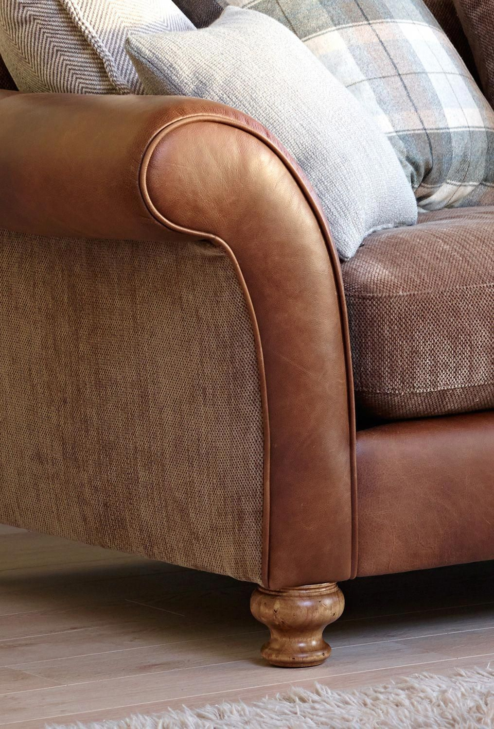 Character Leather Sofa With Cosy Woven Seats Accent With Our Eltham Check Or Plaid Cushions You Chose Best Leather Sofa Sofa Reupholstery Cushions On Sofa