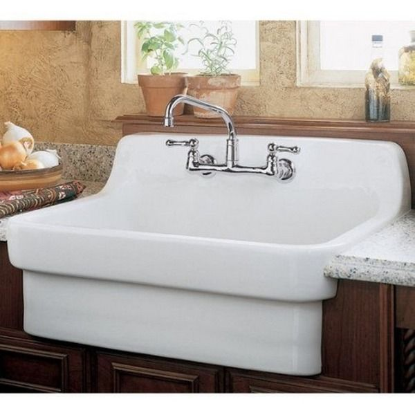 Beau American Standard Country Porcelain 9062.008.020 White Utility Sink