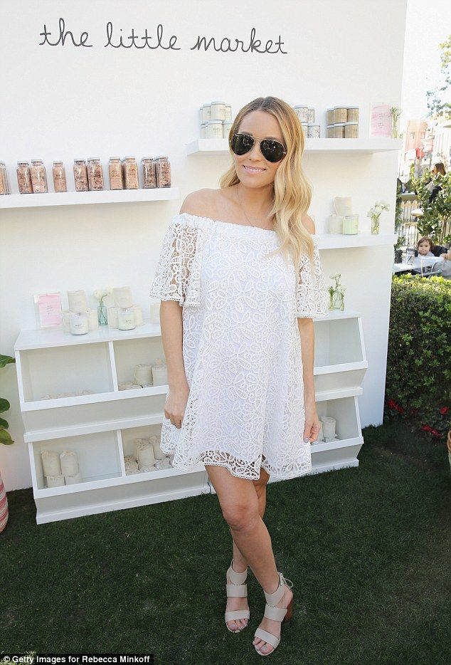 f03d645a4a Mom-to-be Lauren Conrad couldn t have looked happier as she hosted a pop-up  shop at The Grove in Los Angeles on Saturday