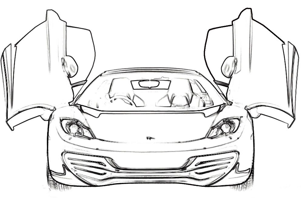 Ferrari Mp412 Italia Coloring Page Ferrari Car Coloring Pages