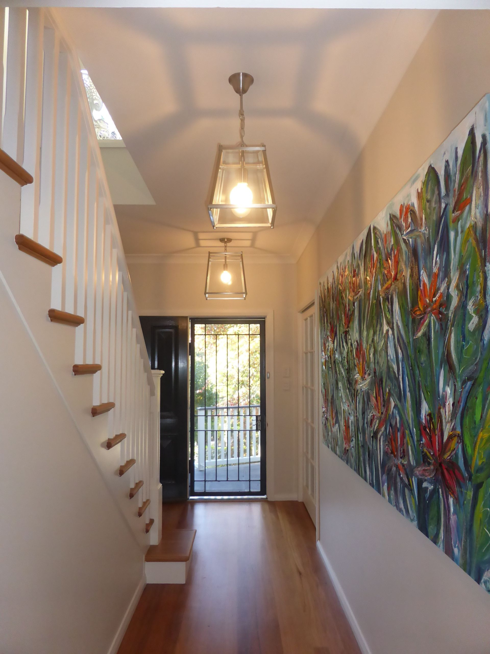 Small entrance hallway slowly getting there adding an extra small entrance hallway slowly getting there adding an extra large pendant light at entrance aloadofball Choice Image