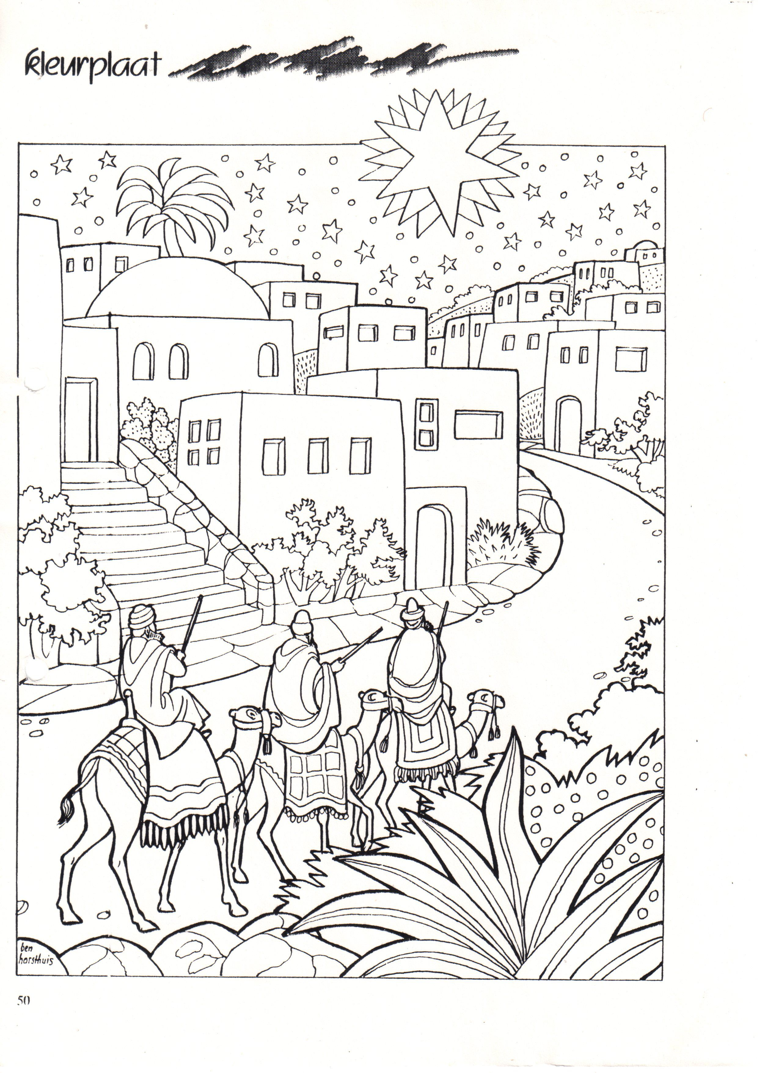 Christmas Three Wise Men | Nativity coloring pages ...