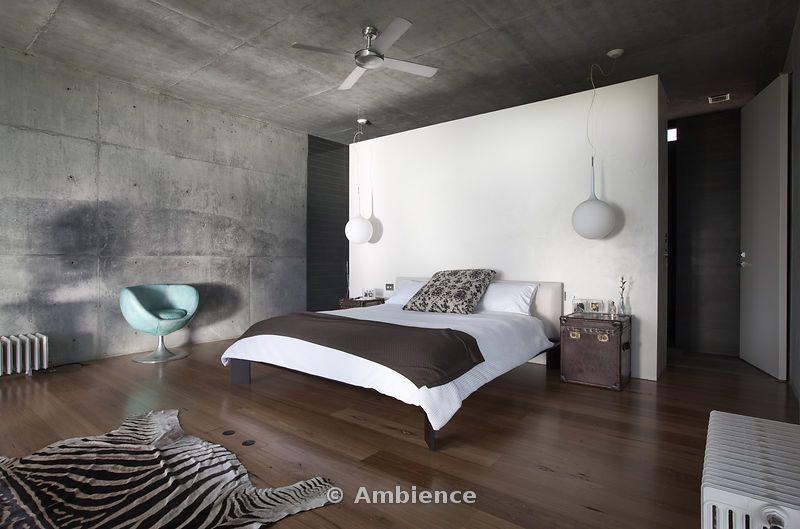 bedroom partition wall with zebra rug http://www.sebraskinn.no