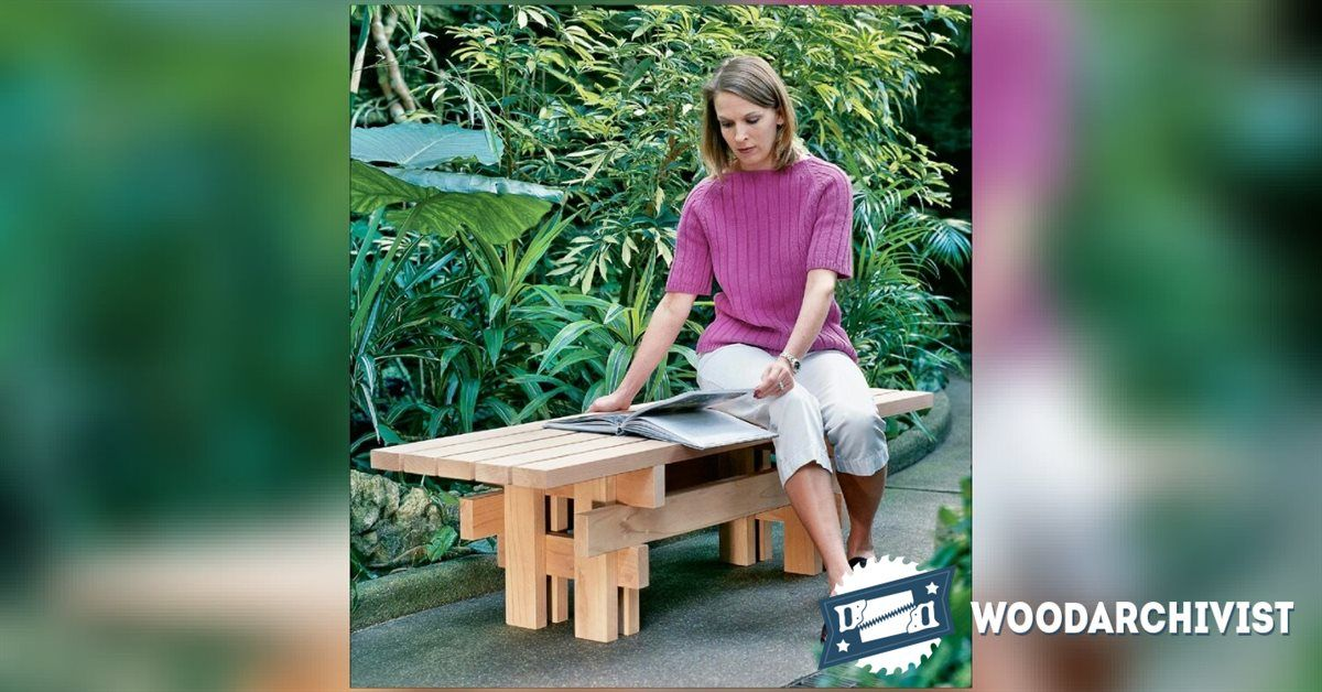 Superbe Japanese Garden Bench Plans   Outdoor Furniture Plans And Projects |  WoodArchivist.com