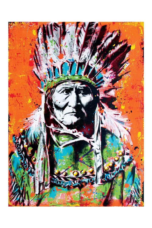 Geronimo 12 x 18 High Quality Art Print by pointblankart