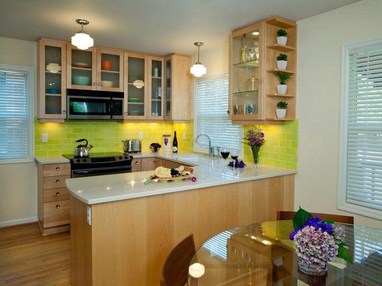 Cocinas peque as 50 ideas que impresionan cocinas for Cocinas de madera pequenas