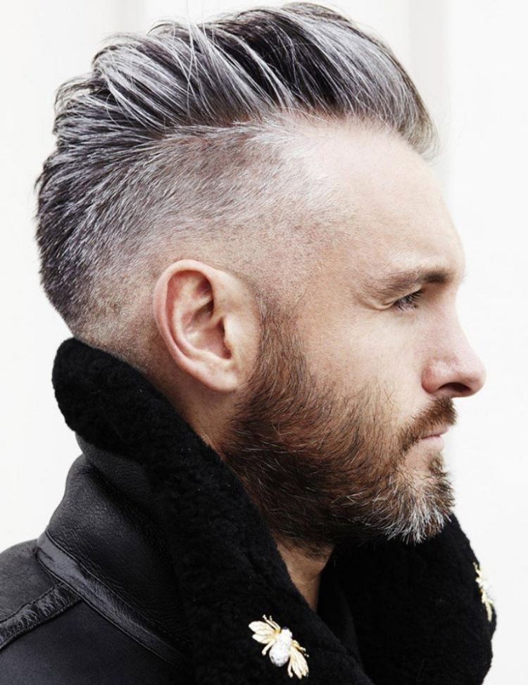 Trend Frisuren Manner Undercut Graue Haare Haarschnitt Manner