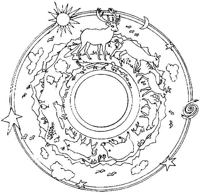 Mandalas a colorier : mandala-animaux-foret.jpg | Printables ...