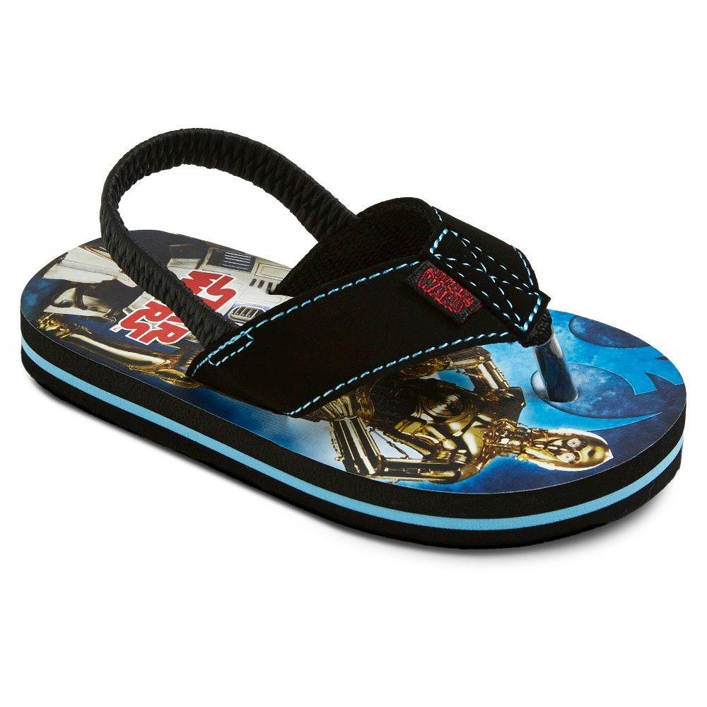 8a469f2d9e Toddler Star Wars Flip Flop Sandals - Blue Black M (7-8)