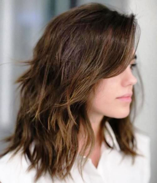27 Super Easy Medium Length Hairstyles For Thick Hair Thick Hair Styles Thick Hair Styles Medium Medium Shag Haircuts