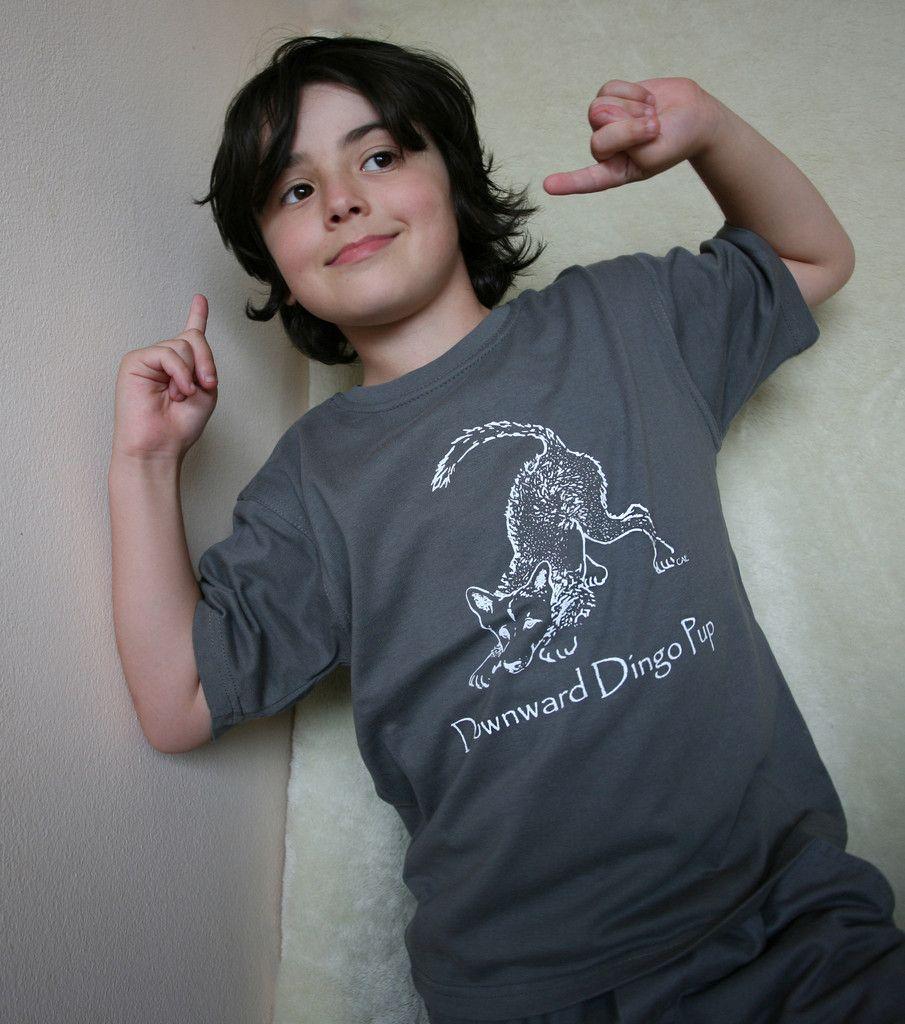 Kids' Downward Dingo Pup T shirt
