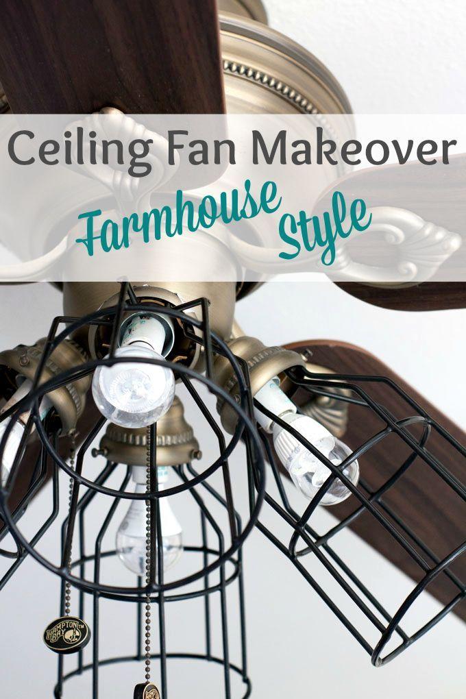 Ceiling Fan Makeover Farmhouse Style Ceiling fan