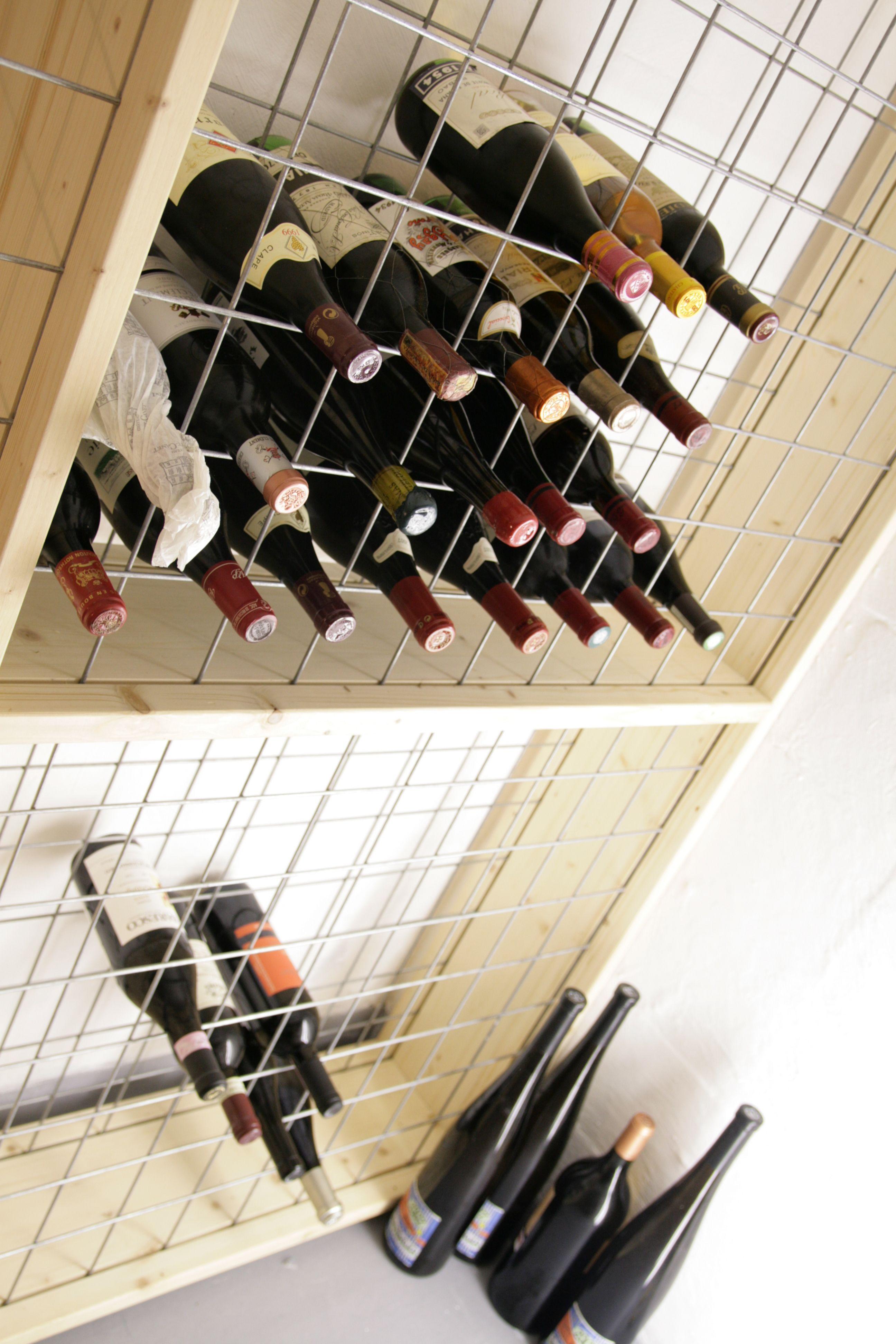 Easy to assemble custom wine rack Dimensions 2050x1660x250 mm