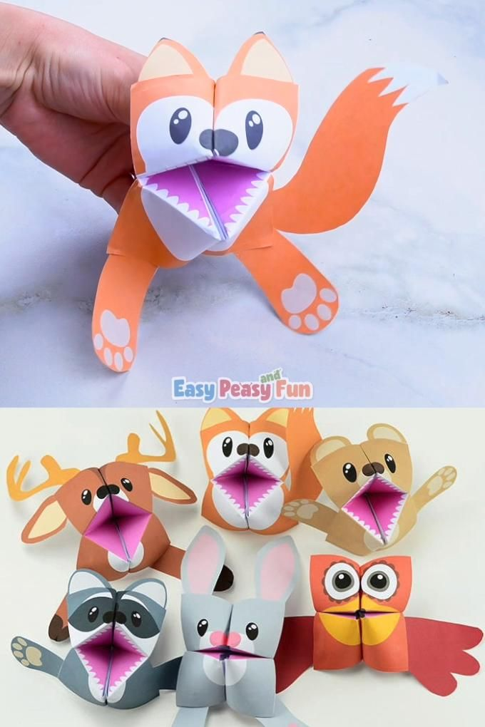 Photo of Fox Cootie Catchers – Origami for Kids