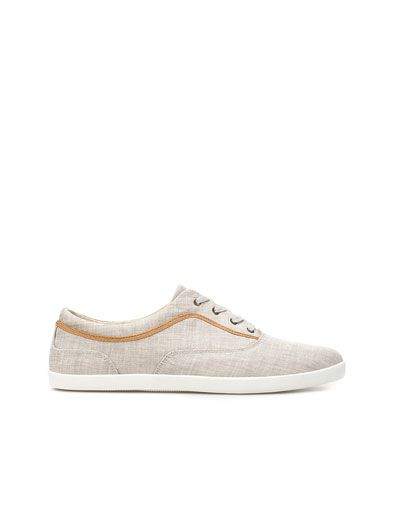 Love these! FABRIC PLIMSOLL - Sneakers - Man - Shoes - ZARA United States