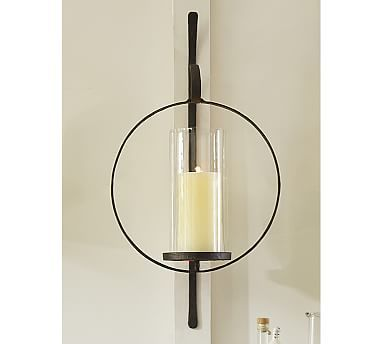 Al Circular Wall Mount Candle Sconce Set Of 2