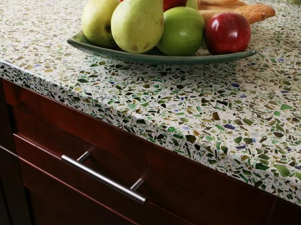 Used Recycled Glass for Countertop