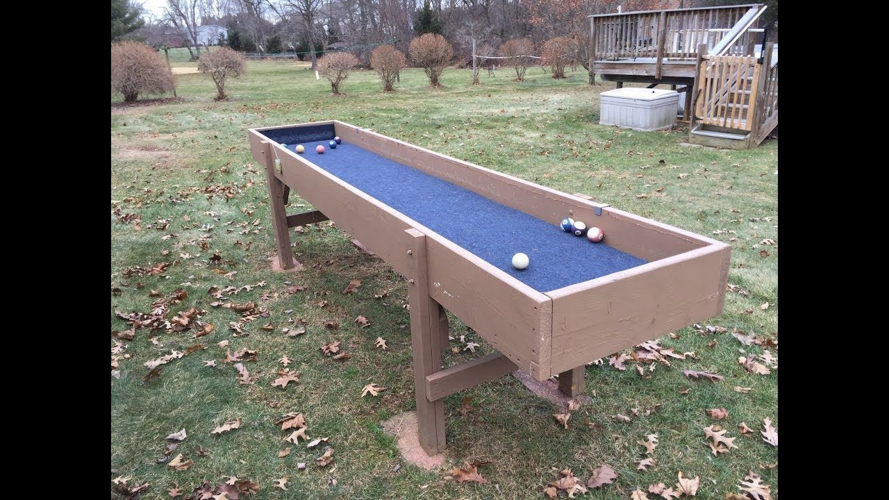 How to build a carpetball table table table sizes backyard