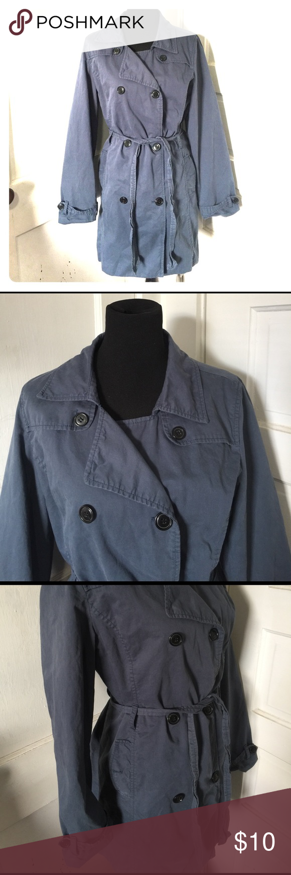 Old Navy blue trench coat Old Navy blue trench coat. Old Navy Jackets & Coats Trench Coats