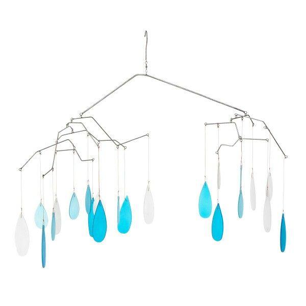 Sea colored glass droplets. Sounds like rain.