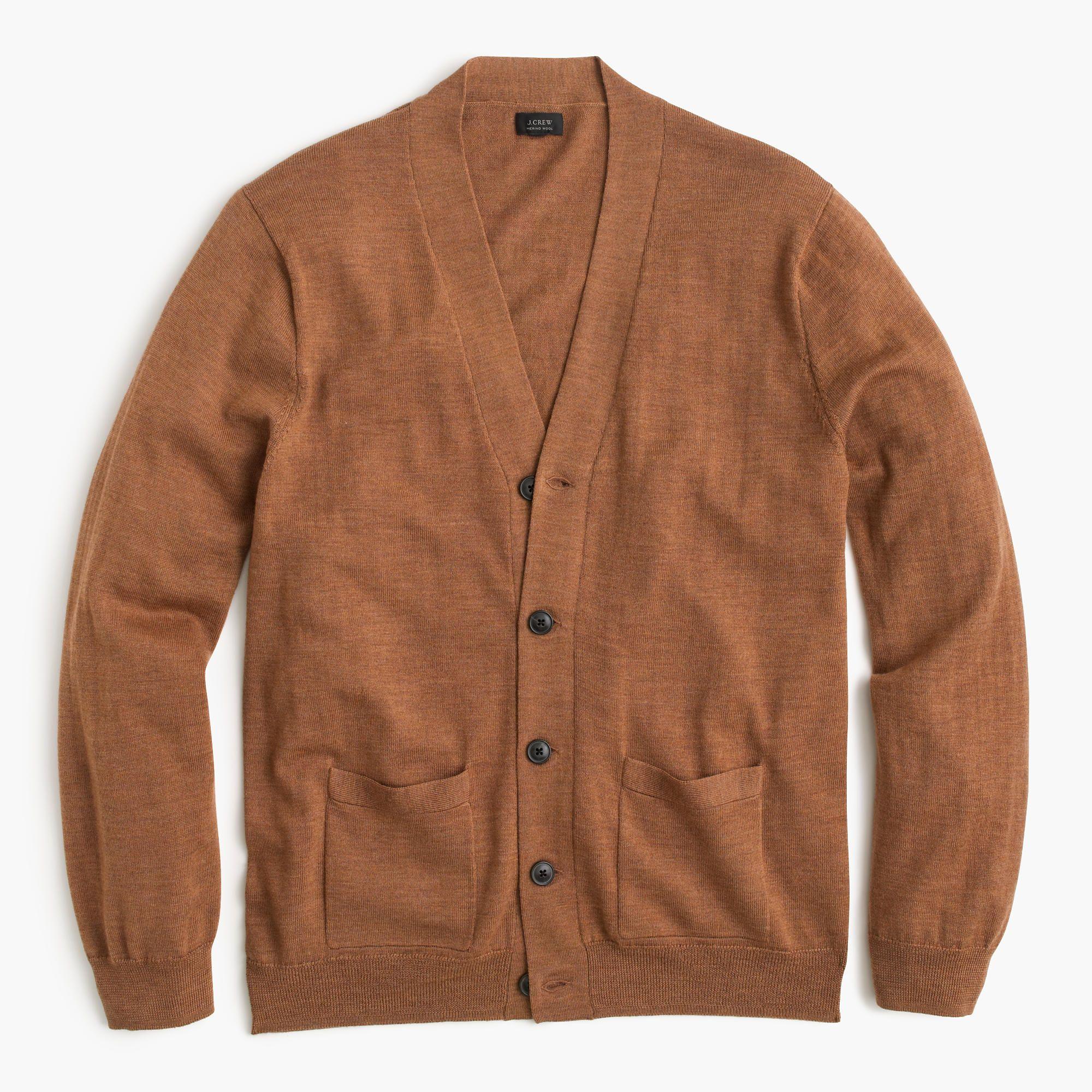 J.Crew Mens Merino Wool Cardigan Sweater (Size L) | Wool cardigan ...