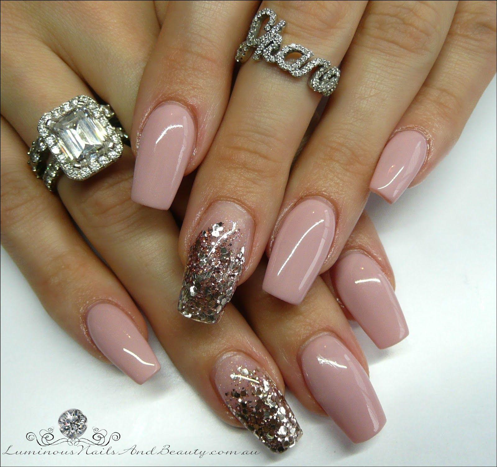 Luminous+Nails+%26+Beauty%2C+Gold+Coast+QLD.+Nude+Nails.+Rose+Gold+ ...