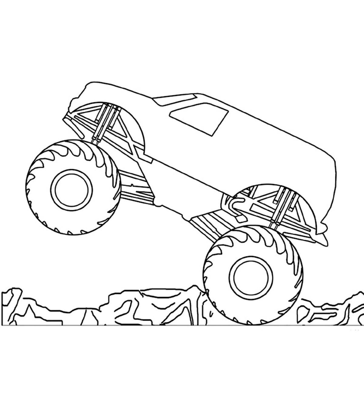 8 Coloring Page Monster Truck Monster Truck Coloring Pages Tractor Coloring Pages Truck Coloring Pages