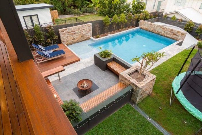 Ähnliches Foto pool Pinterest Landscaping design, Yards and - gartengestaltung reihenhaus pool