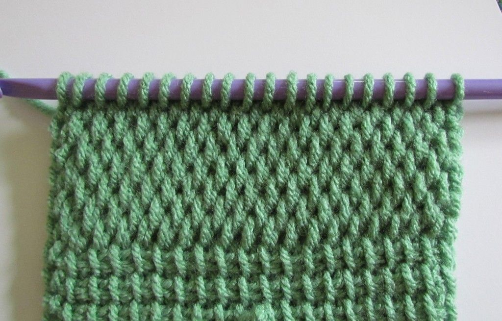 Knitting Crochet Difference : Tunisian sampler scarf tutorial for different