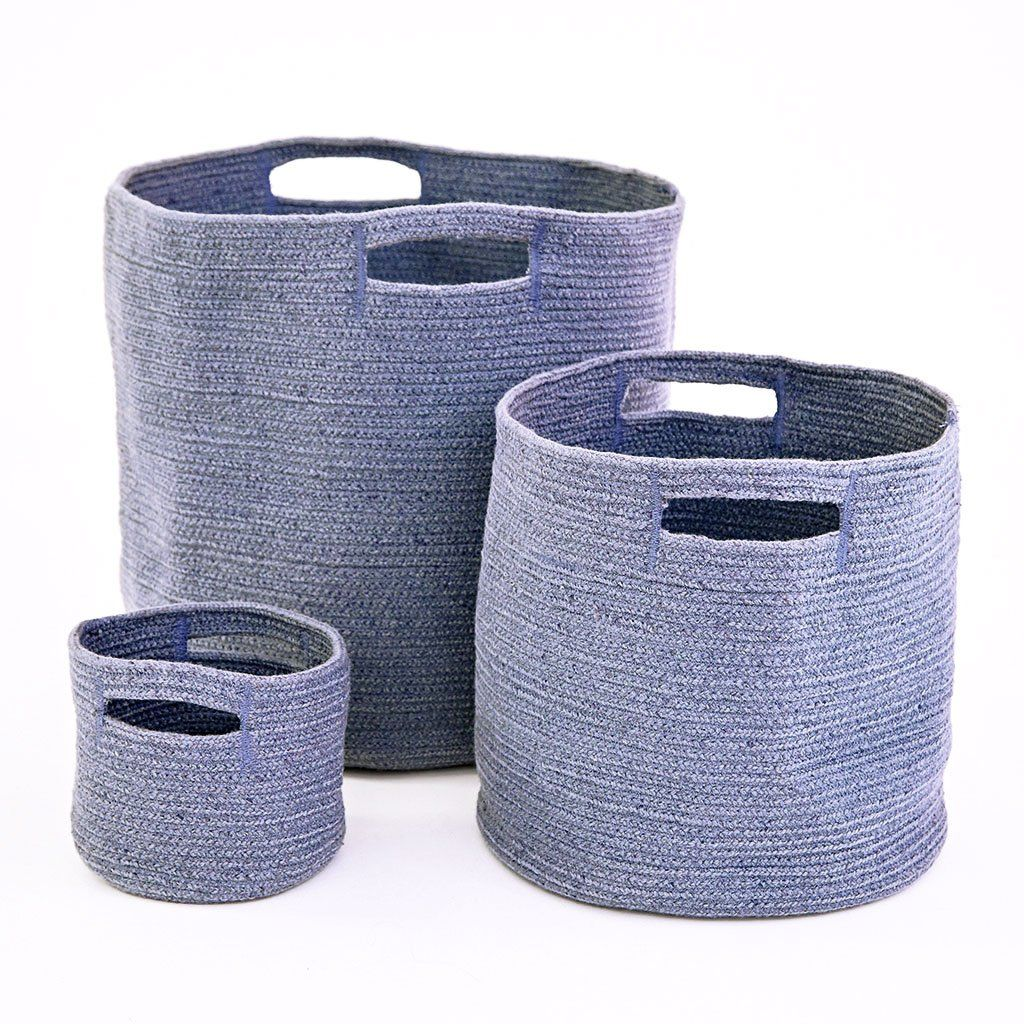 Navy Braided Baskets