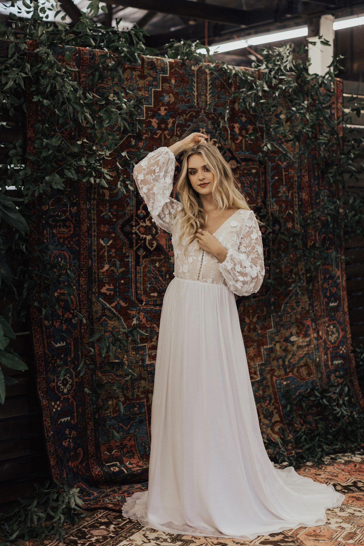 Yaya Lace And Silk Wedding Dress Silk Chiffon Wedding Dress Wedding Dress Long Sleeve Casual Wedding Dress