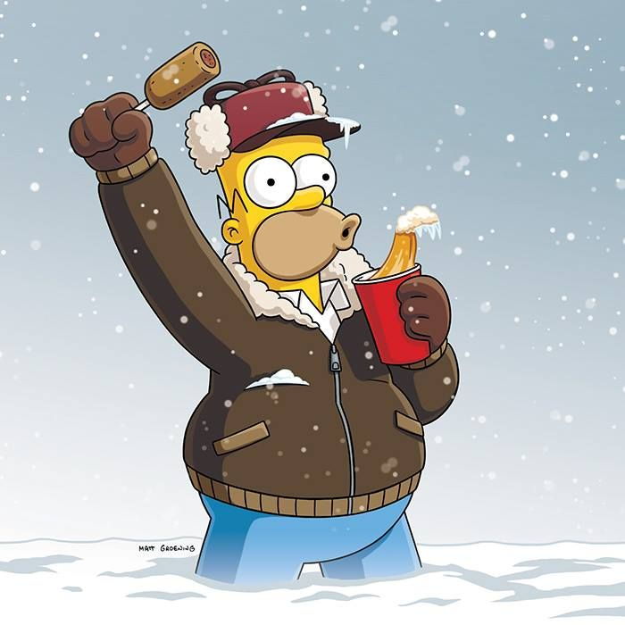 We 39 re taking the night off for the big game the simpsons tv homer simpson simpson tv et - Bande dessinee simpson ...