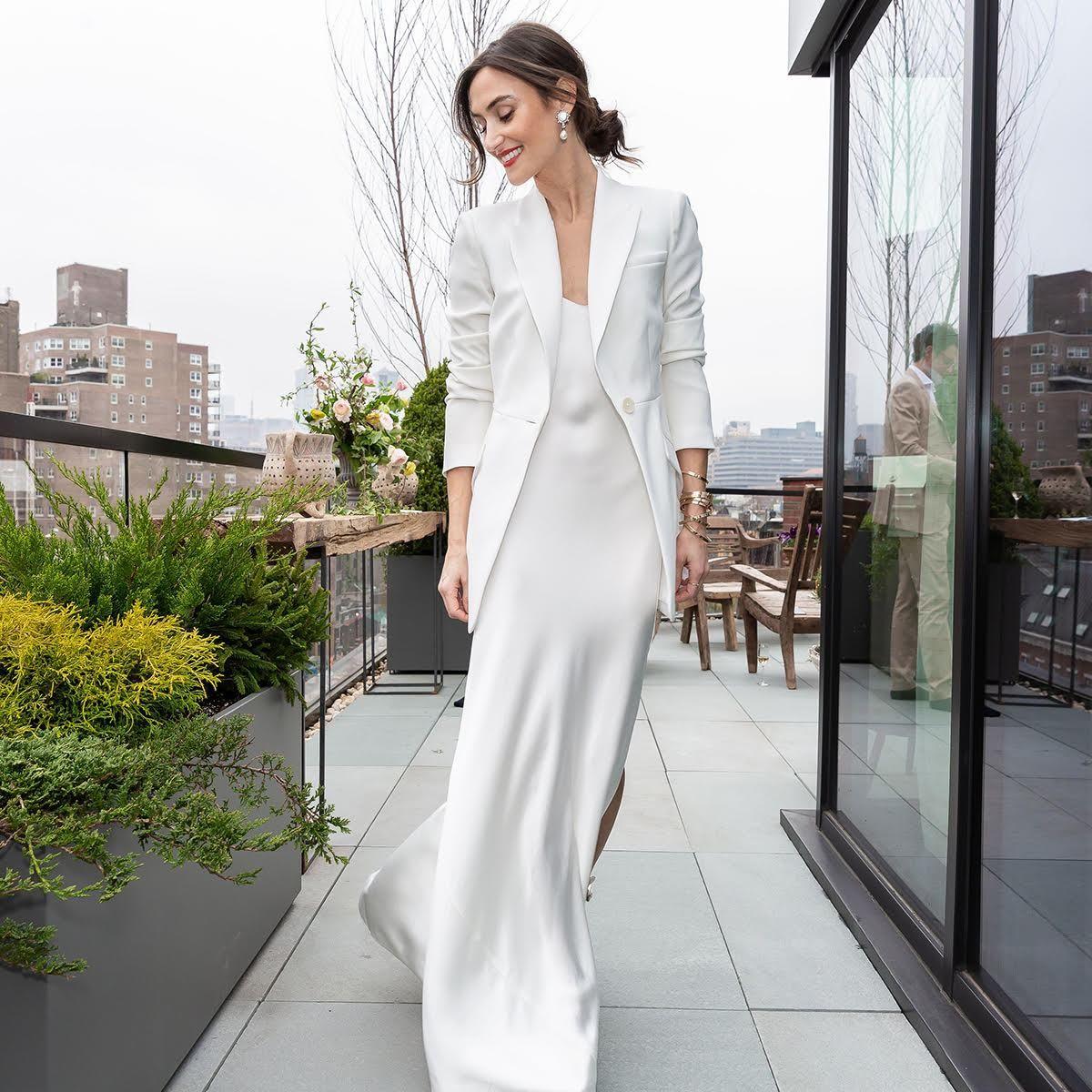 White Silk Slip Dress Slip Wedding Dress Silk Slip Dress Wedding Dress Suit [ 1200 x 1200 Pixel ]