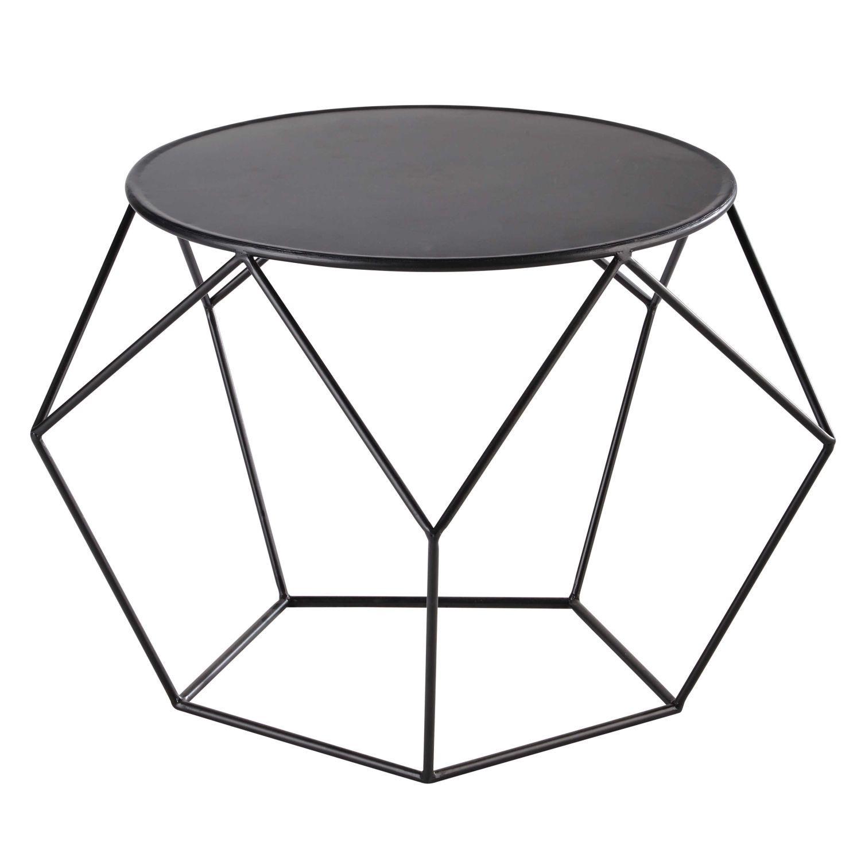 avec sa petite taille cette table basse en metal noir trouvera facilement sa place au salon de forme ronde cette table basse noire fera un joli support