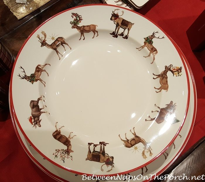 Image Result For Christmas China Patterns Deer Holiday Dinnerware Custom Christmas China Patterns