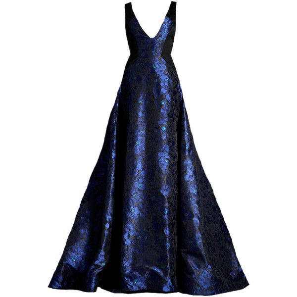 edited by elle-cxix(jason wu) ❤ liked on Polyvore featuring dresses, gowns, long dress, blue gowns, blue ball gown, blue gown, long blue dress, long blue evening dress and long dresses